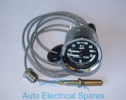 SMITHS mechanical dual oil pressure & water gauge BHA4900